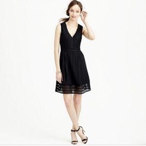 J.CREW Back Eyelet Stripe Fit & Flare Midi Dress